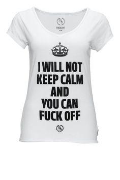 Damen T-Shirt von Boom Bap Schmale Passform Leicht tailliert V-Ausschnitt Front-Print Gr��e f�llt normal aus