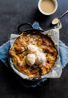 Caramel apple puff galette - Simply Delicious.