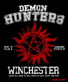 A Supernatural t-shirt by FanFreak. Show everyone that you are a fan of Supernatural with this t-shirt. Share your love for the Demon hunters! Supernatural Fans, Supernatural Outfits, Supernatural Tattoo, Supernatural Wallpaper, Supernatural Background, Supernatural Merchandise, Castiel, Dean Winchester, Demon Hunter