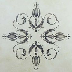 Palazzo Centerpiece Ceiling Stencil from Royal Design Studio