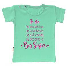 Ik word grote zus/broer zwangerschapsaankondiging shirt
