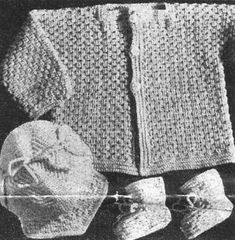 Crocheted Baby Set No. 1183