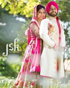 Indian bride and groom. Indian wedding photography