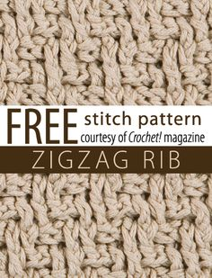 How to hook the zigzag rib stitch -- uses alternating FPDC and BPDC, not as difficult as it looks  :-)