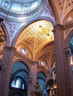 The interior of Puebla Cathedral