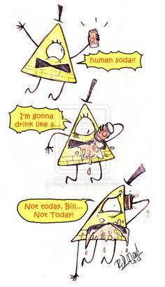 Bill Cipher and soda by dragon-flies.deviantart.com on @DeviantArt