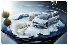 We're representing to you 30 creative print ads from the auto manufacturers. Perhaps advertising is the most significant place for the creativity. Advertising agencies develop all kinds of Sports Advertising, Creative Advertising, Volkswagen Jetta, Car Images, Advertising Photography, Car Manufacturers, Big Trucks, Polar Bear, Trucks