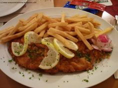 Schnitzel mit pommes.<3 miss German food sooo bad!!