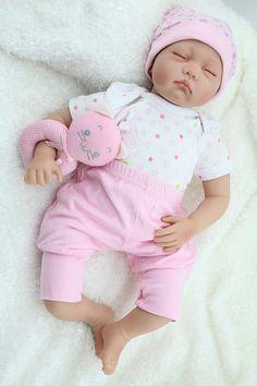 55cm silicone  reborn babies dolls closed eyes sleeping newborn baby lifelike best baby toys gift