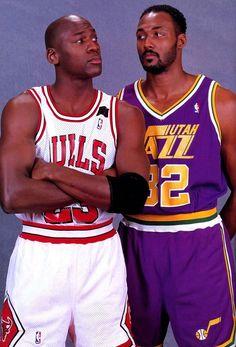 Michael Jordan Chicago Bulls Karl Malone Utah Jazz