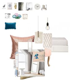 """Untitled #32"" by r-hibbert on Polyvore featuring interior, interiors, interior design, home, home decor, interior decorating, PBteen, Magical Thinking, HomePop and Amara"