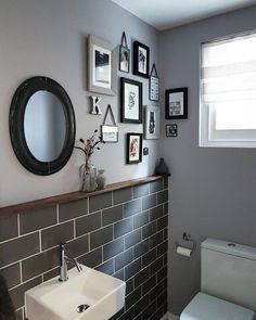 Space saving toilet design for small bathroom - home to z. home decorating games for adults refferal: 9731515764 Space Saving Toilet, Small Toilet Room, Small Toilet Decor, Small Shower Room, Shower Rooms, Bad Inspiration, Bathroom Inspiration, Bathroom Wall Decor, Bathroom Interior