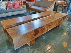 Come shop our Albezia Slab Benches  at Mix Furniture!!
