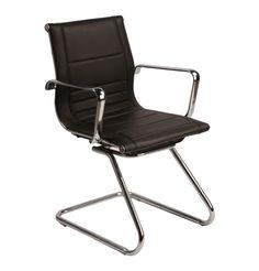 SX5851C Leather Visitors Chair by Unknown - Matt Blatt