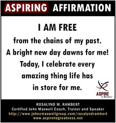 What will you affirm today?  I affirm that…  ~ ASPIRE TO GREATNESS WITH US @ https://www.facebook.com/aspiretogreatness