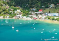 A view of Charlotteville fron Fort Campbleton.
