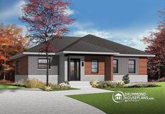 W3131-v2 - Open Concept Modern Bungalow With 2 Large Bedrooms