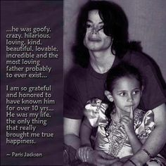 Words by Paris Jackson about her Father Michael Jackson.
