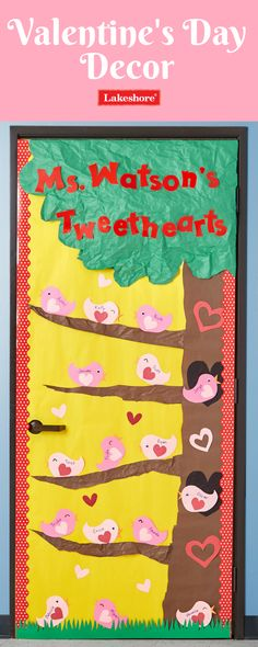 """Show your """"tweethearts"""" a little love this Valentine's Day with an adorable classroom door decor idea!"""