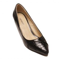Office Women's Pumps With Pointed Toe and Stone Pattern Design