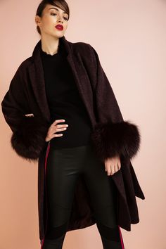 Long coat with fur  €279.00  Product Code: 3R100BO    DETAILS