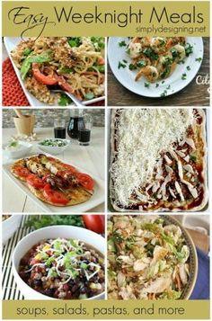 15 Easy Weeknight Meals | #recipes #dinner #dinnerideas by kellie