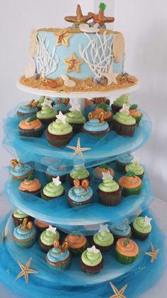My wedding cupcake tower by Sergin Joseph