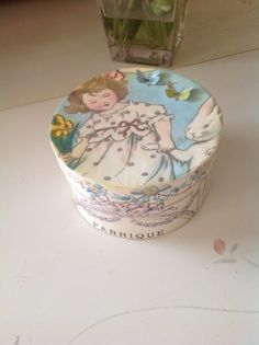 Childhood bunny and butterflies box by aweebitofsparkle on Etsy, $15.00
