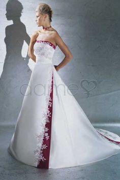 Kapelle Schleppe Prinzessin Satin Schnürrücken elegantes & luxuriöses trägerloses volle länge Brautkleid