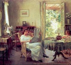 summer-at-hadlyme-willard-metcalf-american-painter.jpg 698×639 pixels
