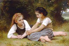 William Adolphe Bouguereau 1825-1905 - The Nut Gatherers - 1882.