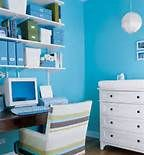 Nursery office combo- blue