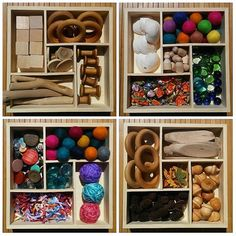 I designed these boxes inspired by the Loose Parts Theory!  The loose parts theory suggests that when children are given a wide range of