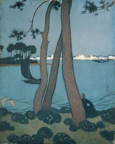 Maurice Denis (1870-1943) was een Frans kunstschilder. Hij was een van de oprichters van de groep Les Nabis. Net als de andere Nabis experimenteerde Denis met meerdere vormen van kunst. Behalve zijn schilderijen en drukwerk, ontwierp hij ook tapijten, ontwierp hij gebrandschilderde ramen, mozaïeken en beschilderde hij keramiek. Daarnaast hield hij zich bezig met woningdecoratie.