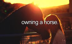 owning a horse..... I really, really, really, a million times really want this one to be true for me :'( #someday