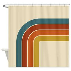 Retro Curve Shower Curtain - This fun 70s inspired retro design is sure to liven up your home.