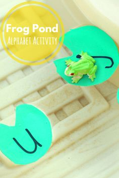 Frog Pond Alphabet Activity. Fun water play activity for learning letters. Repinned by SOS Inc. Resources pinterest.com/sostherapy/.