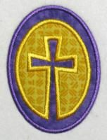 Free Easter Cross in Egg Applique Embroidery Design.