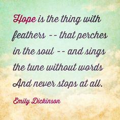 #hope #quotes #emilydickinson