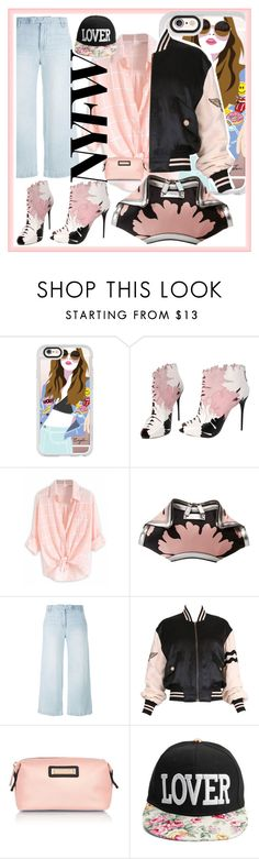"""NYFW"" by katymill ❤ liked on Polyvore featuring Casetify, Alexander McQueen, Current/Elliott, Moschino and River Island"