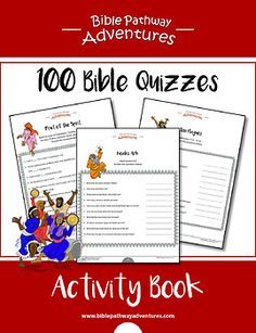 Need help teaching your students about the Bible? This printable 100 Bible Quizzes Activity Book contains a mix of 100 Bible Quizzes from the Old and New Testaments, plus detailed scripture references for further Bible reading and an Answer Key for teachers.