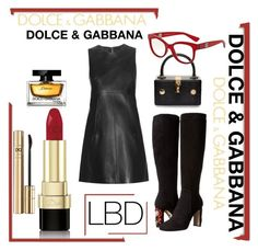 """""""Dolce & Gabbana in Leather"""" by forgottenmelody on Polyvore featuring Dolce&Gabbana"""