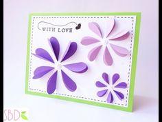 Biglietto Pop Flowers - Pop Flowers Card - YouTube