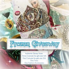 #Frozen Giveaway - Have you entered yet?  We're giving away Anna and #Elsa dresses (yes THAT dress everyone's trying so hard to find) and accessories.
