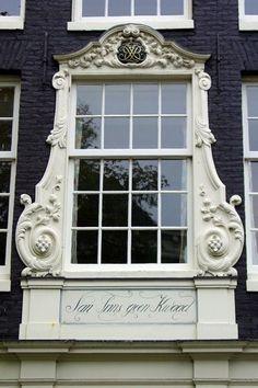 a window on the Bloemengracht Amsterdam