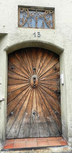 January 14th - This beautiful, unique door is from Bavaria, Germany.
