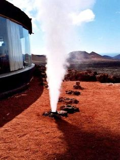 The Geyser in Timanfaya National Park, Lanzarote.