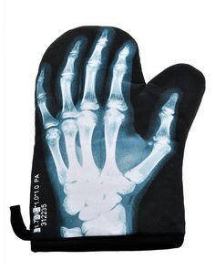 X-Ray Skeleton Oven Mitt Glove