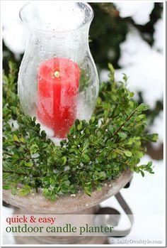 DIY Candles DIY Outdoor Christmas Candle Planter DIY Candles