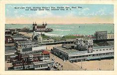Atlantic City New Jersey Heinz's Pier Garden Pier Steel Vintage Postcard #atlanticcity #newjersey #vintagepostcard